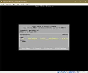 ESXiインストール_ディスク選択画面