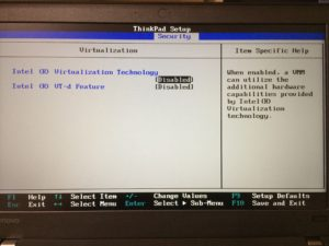 virtualization technology disabled