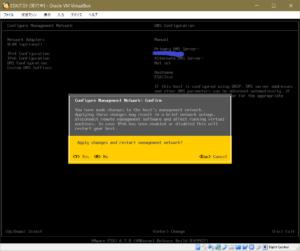 esxi configure management network confirm